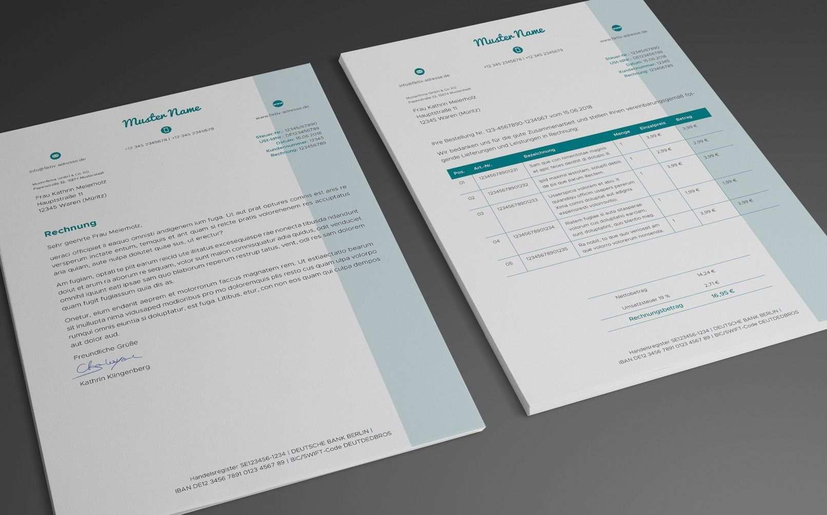 Vorlagen Fur Rechnungen Lieferscheine Und Angebote Volume 2