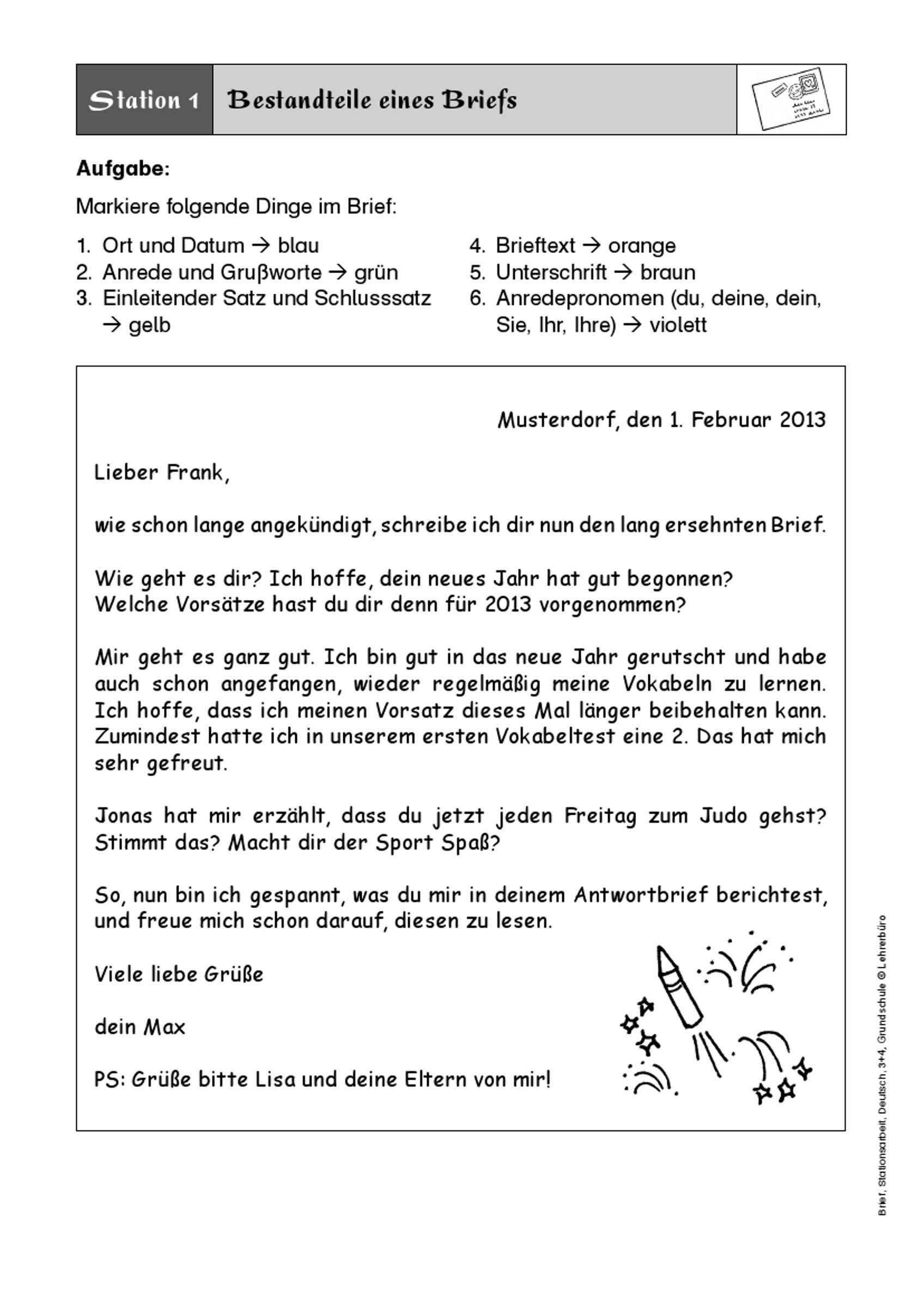 Brief Schreiben 3 Klasse Google Suche Briefe Schreiben Brief