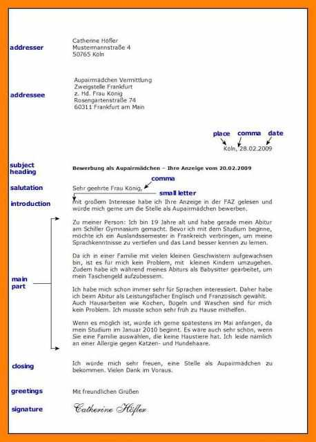 13 Adresse Brief 2019 Brief Deutsch Briefe Schreiben Deutsch