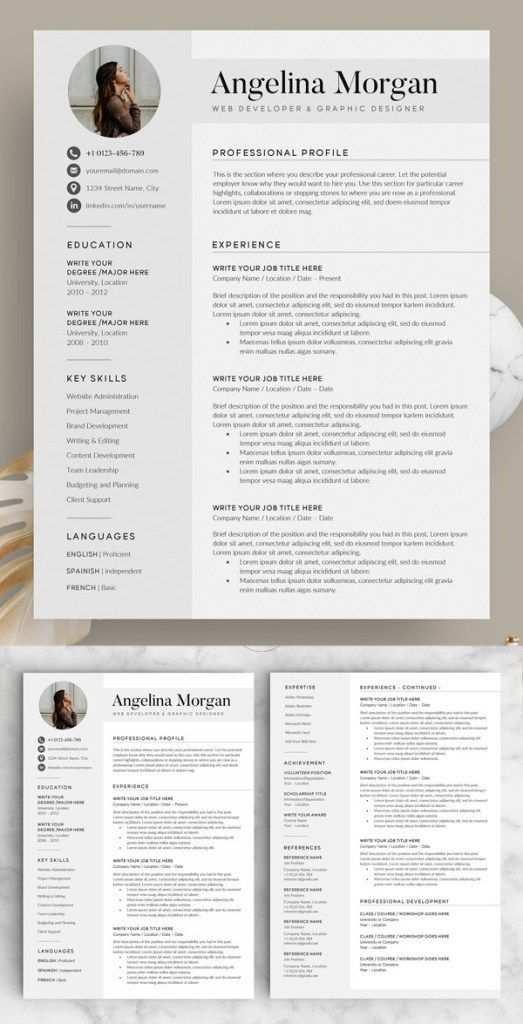 Saubere Und Professionelle Word Resume Vorlagen Mit Anschreiben