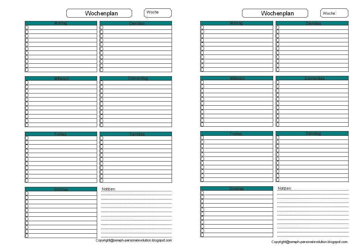Zeitmanagement To Do Listen Druckvorlagen Vorlagen Wochenplanung