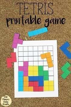 Tetris Druckbares Spiel Druckbares Mathe Spiel Tetris