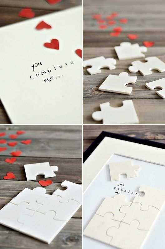 Diy Anleitung Valentinstags Puzzle Selber Machen Via Dawanda Com