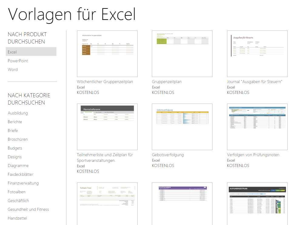 Excel Vorlagen Kostenlos Download Chip