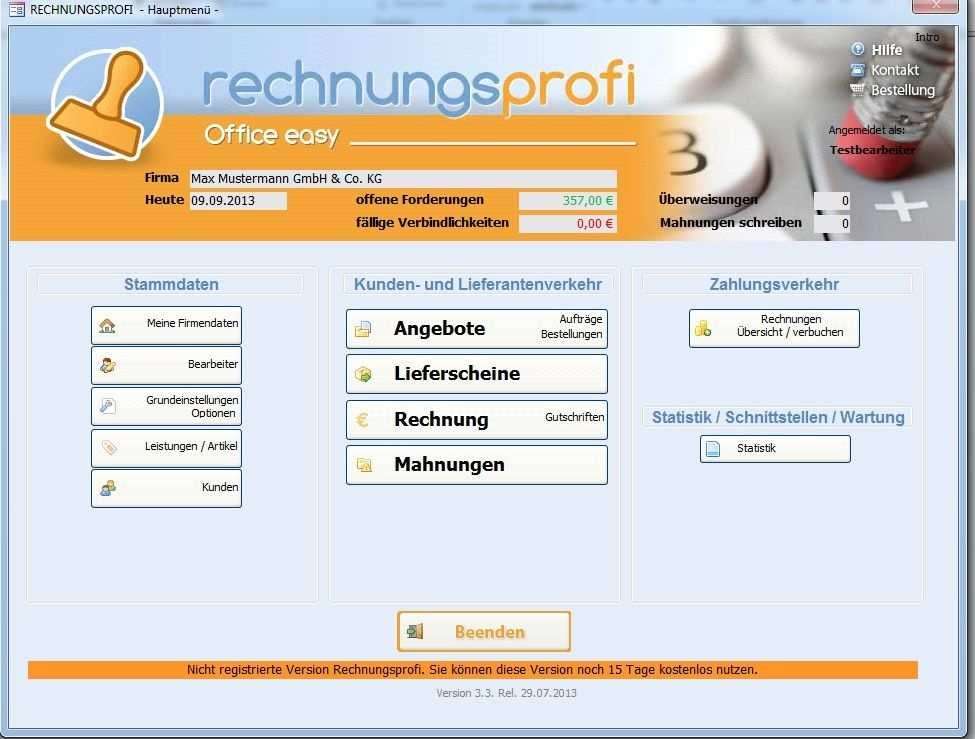 Rechnungsprofi Office Easy Die Preisgunstige Einsteigerversion