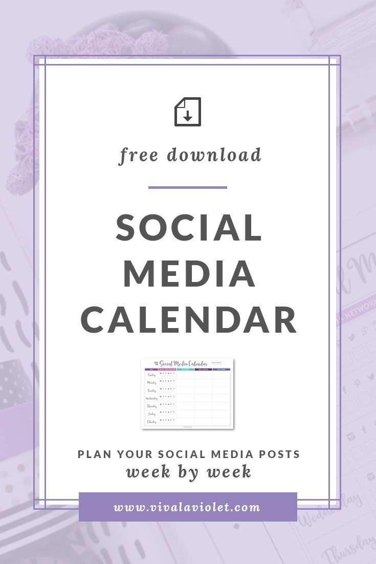Free Printable Social Media Calendar Marketing Online