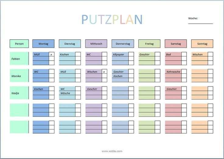 Putzplan Zum Ausdrucken Pdf Word Putzplan Haushalts Ordner Planer