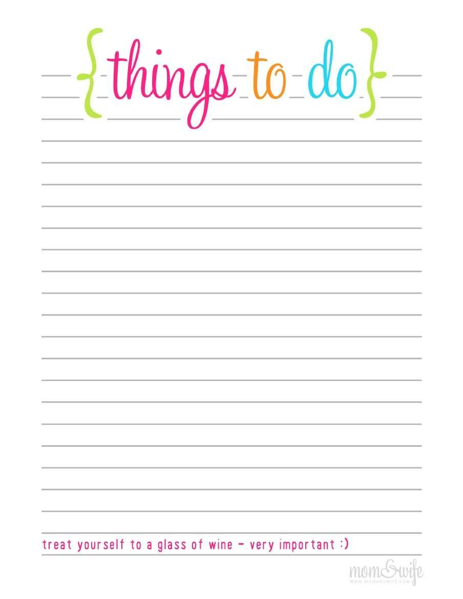 Printable To Do List To Do List Printable To Do Liste Vorlage