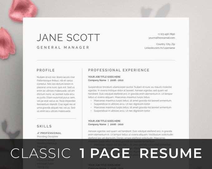 Resume Template 4 Page Cv Template Cover Letter For Ms Word