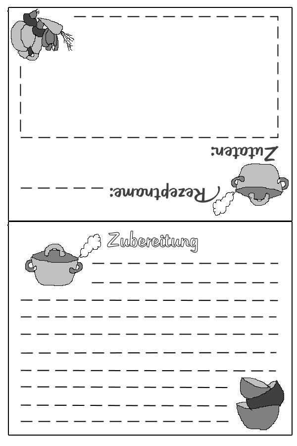 Rezeptkarte Zum Ausdrucken Kochbuch Selbst Gestalten