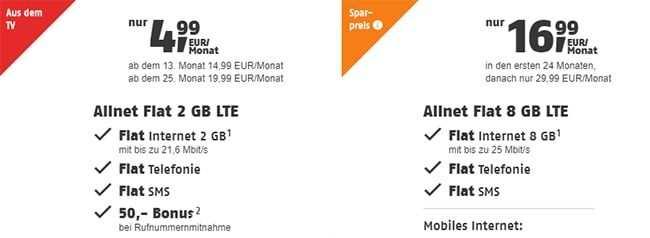 Telekom Allnet Flat Mit Bis Zu 4gb Internet Flat Ab 9 90