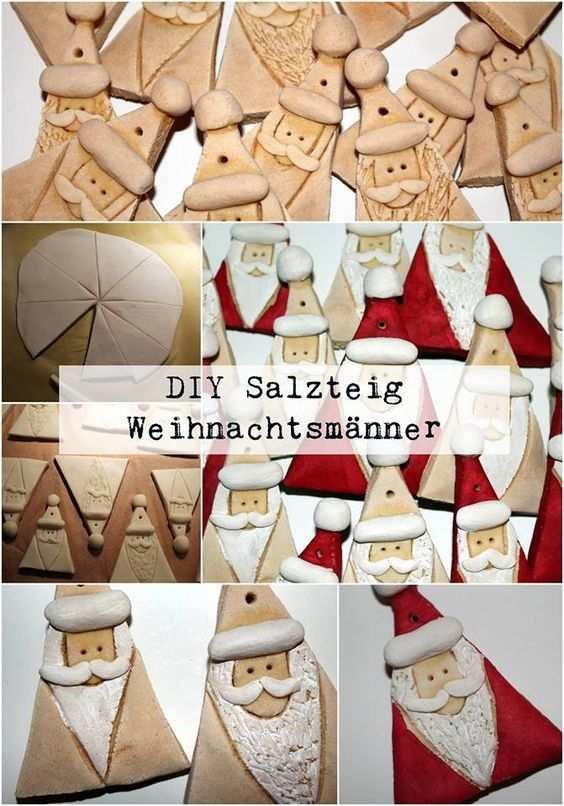 Diy Salzteig Weihnachtsmanner Einfach Selber Machen Salzteig