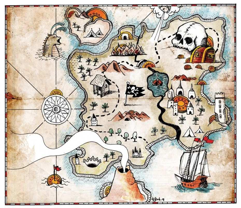 Schatzkarte Vorlage Piraten Schatzkarte Piratenschatzkarten