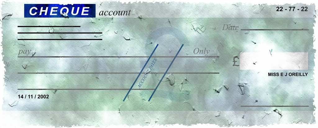 Scheck Zum Ausdrucken So Finden Sie Ein Muster Chip