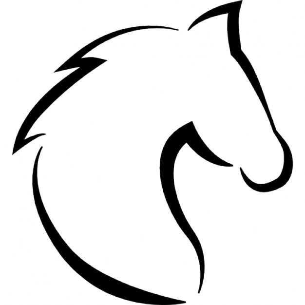Vorlage Pferd Pferdekopf Pferdekopf Pferde Silhouette Pferd