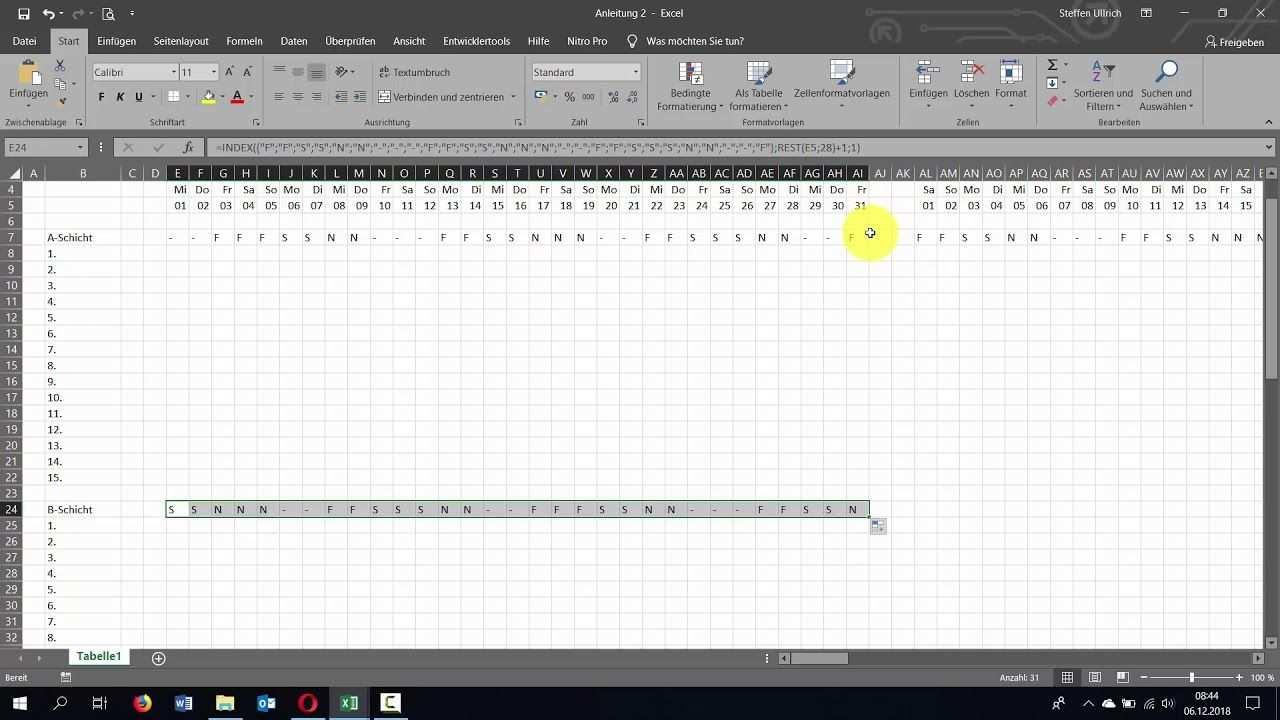 Excel Schichtplan Erstellen Teil 2 Schichtberechnung V2