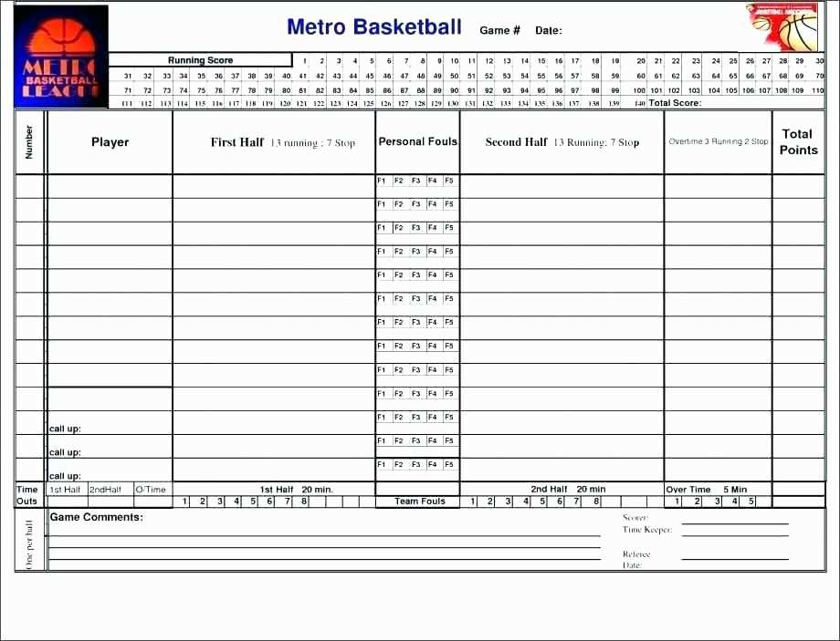 Printable Golf Stat Sheet Awesome Football Stats Spreadsheet Free