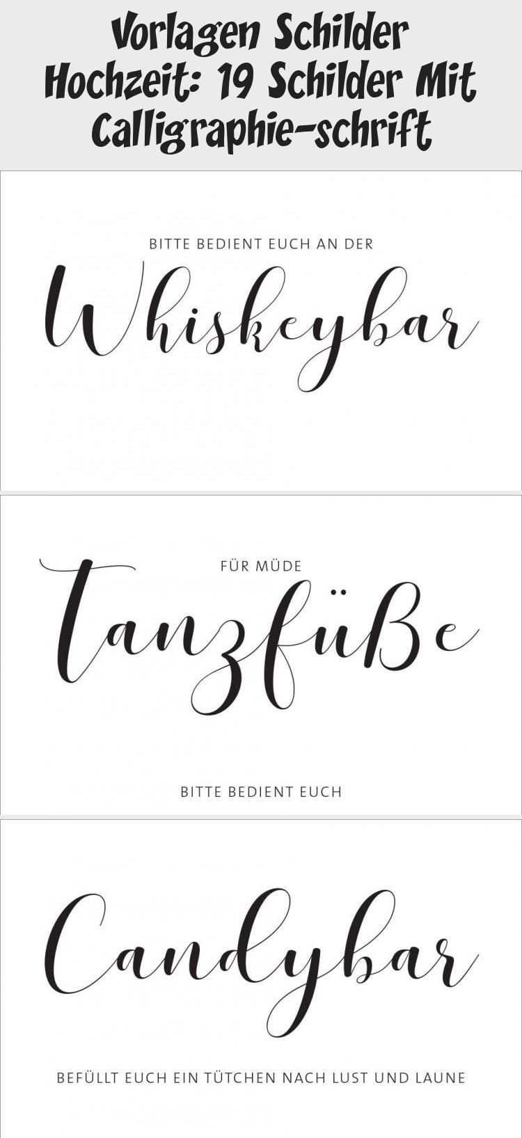 Vorlagen Schilder Hochzeit 19 Schilder Mit Calligraphie Schrift