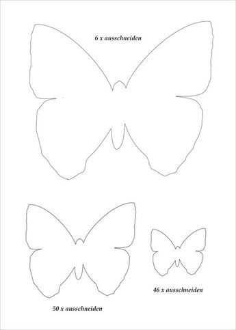 Butterflies Schmetterling Vorlage Papierschmetterlinge