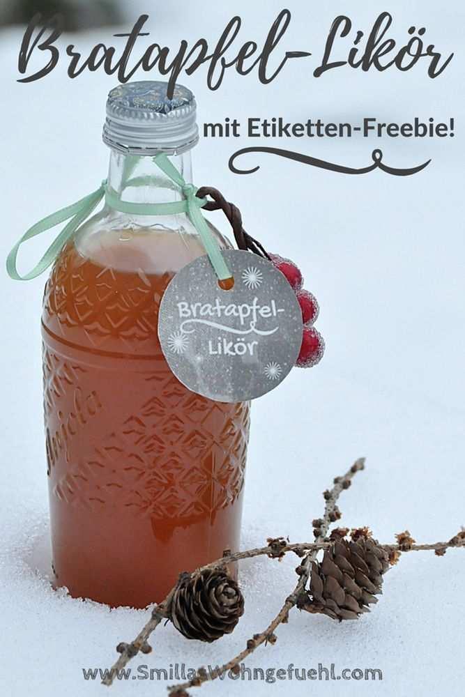 Bratafpel Likor Mit Etikett Zum Download Smillas Wohngefuehl
