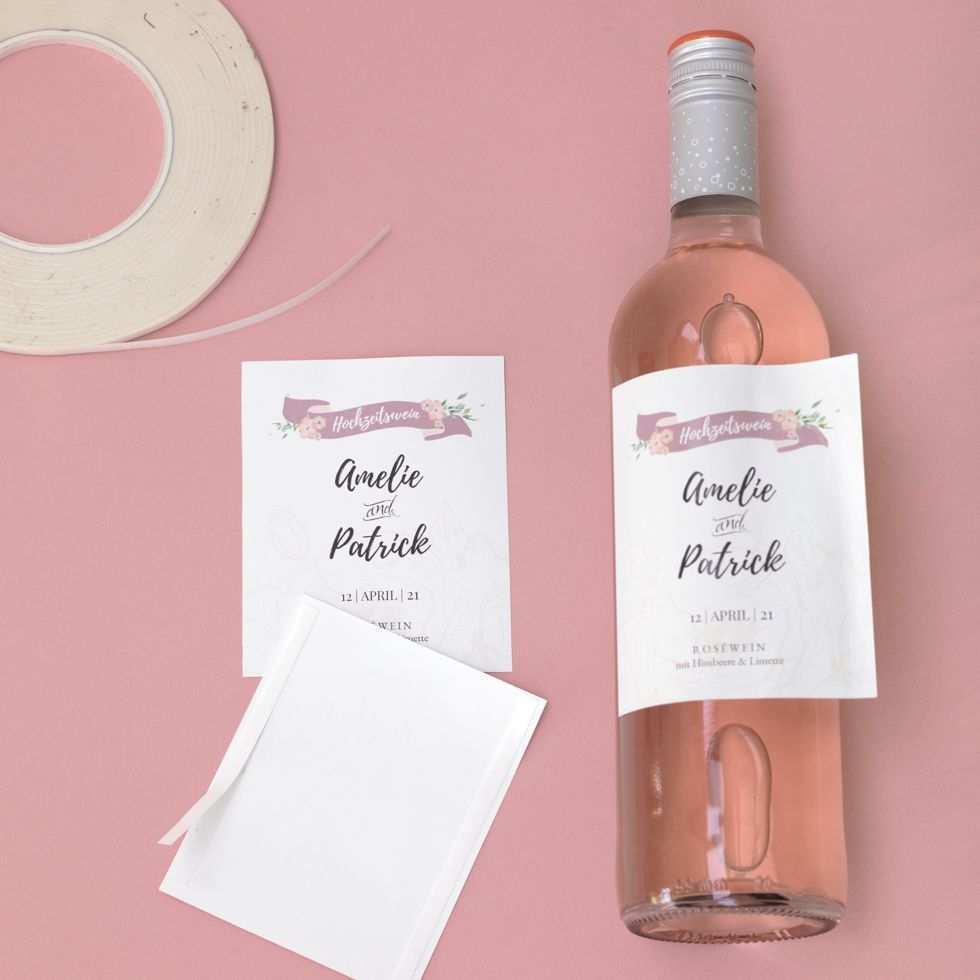 Sektflaschen Und Weinetiketten 12 Designs Mit Bildern