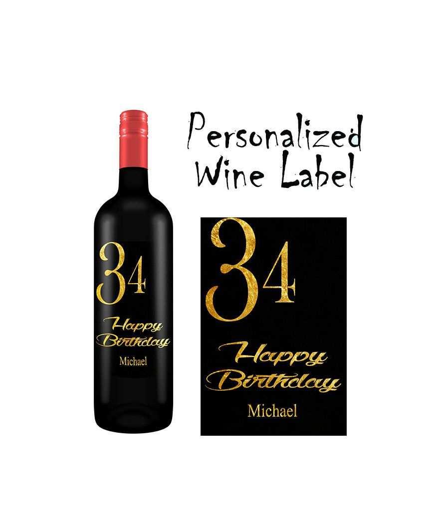 Personalisiertes Weinflaschen Etikett Wein Etikett Geburtstags