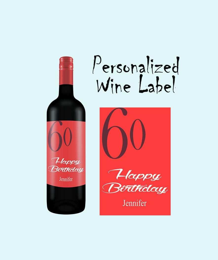 Wein Etikett Geburtstags Etikett Personalisiertes Weinflaschen