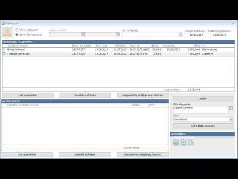 Uberweisungen Und Lastschriften Mit Rechnungsprofi Rechnung Schrift