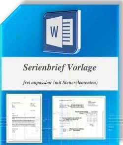 Word Serienbriefvorlage Briefvorlagen Geschaftsbrief Vorlage