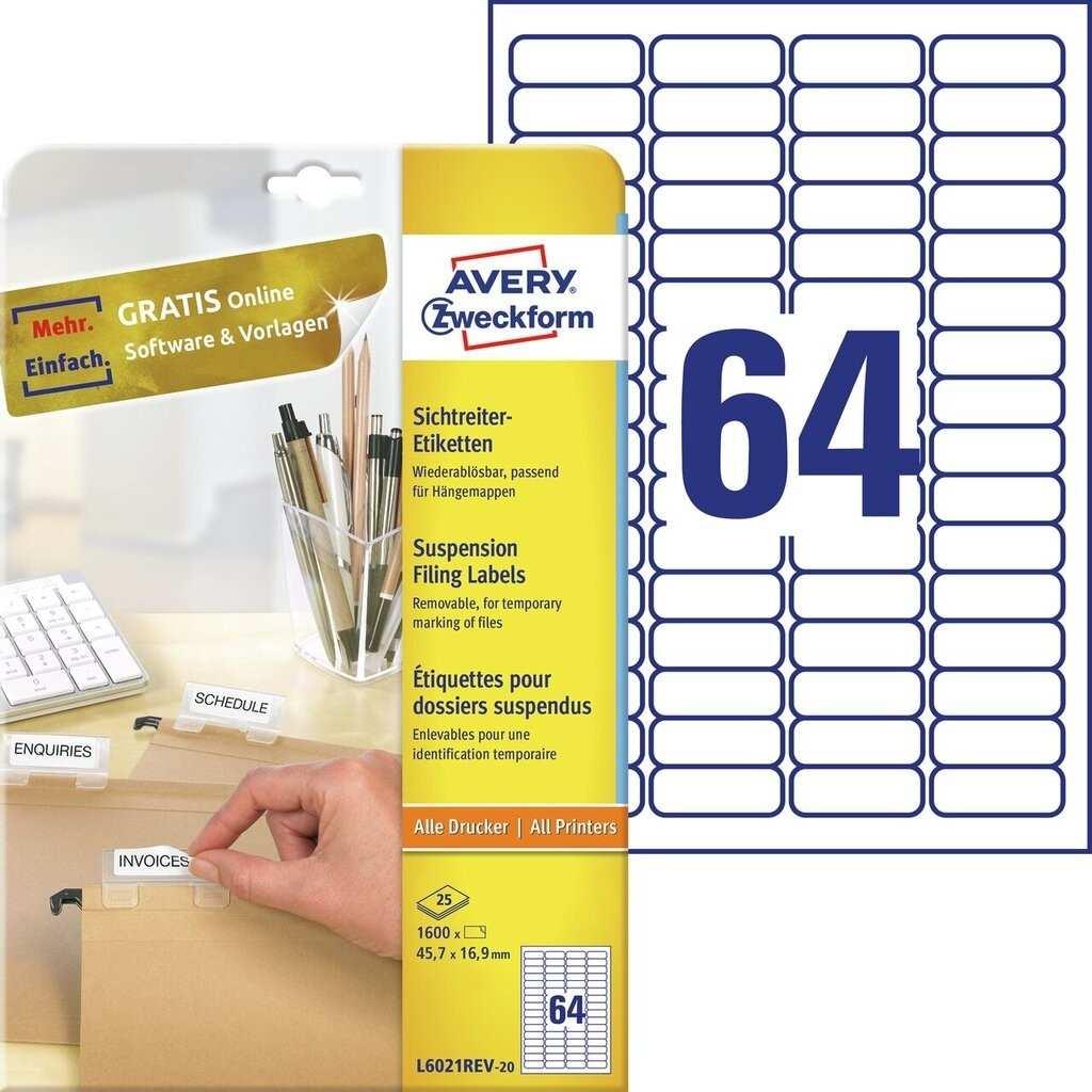 Sichtreiter Etiketten L6021rev 25 Avery Zweckform