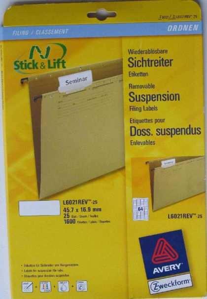 Avery Zweckform Sichtreiter Etiketten Kaufen Bei Wiener Messing