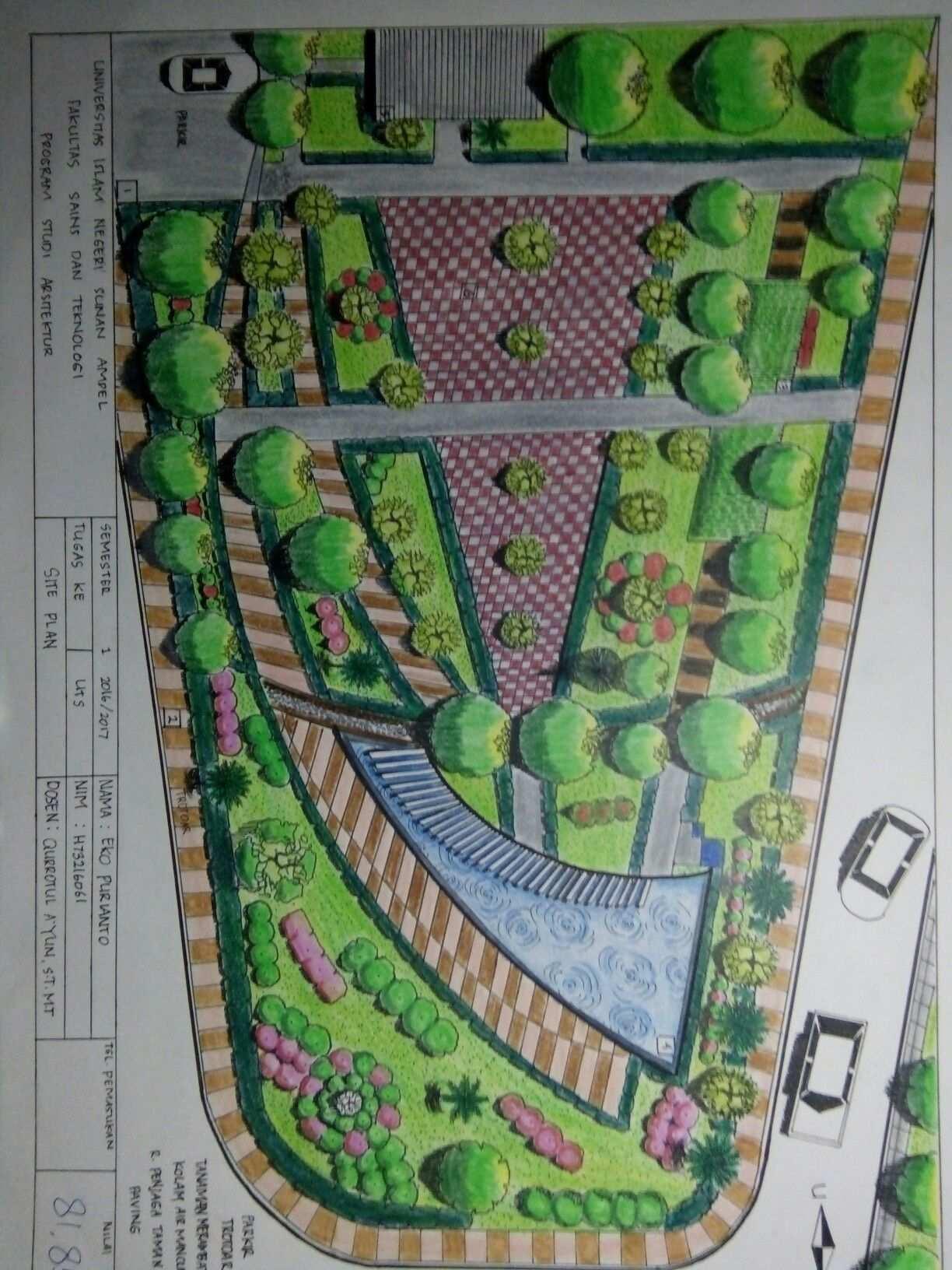 Site Plan Taman Pelangi Surabaya Arsitektur Pelangi