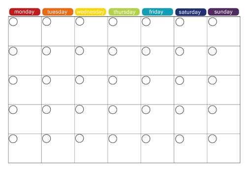 Monthly Menu Plan Printable Menu Planning Printable Weekly Menu