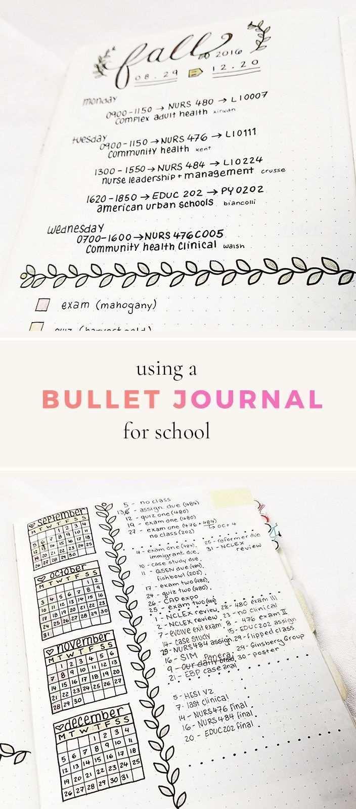 Bullet Journal For School Mit Bildern Inspiration Tagebuch