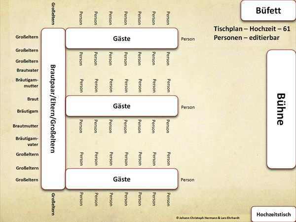 Tischordnung Vorlage Sitzordnung Eckige Tische E Form 61 Personen