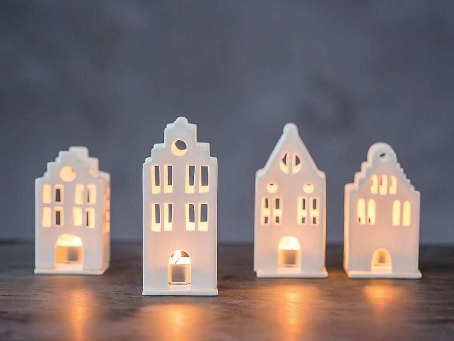 Mini Lichthaus Lichthaus Teelichthalter Und Kerzen