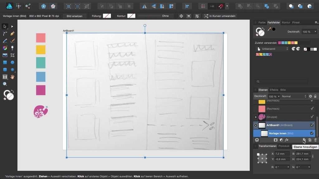 Sehen Sie Hier Wie Sie Eine Handskizze Im Dokument Platzieren Und