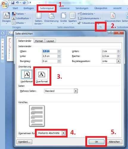 Word Hoch Und Querformat Im Gleichen Dokument Excel Tipps