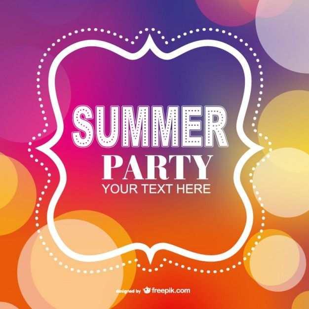 Sommerfest Plakat Einladung Vorlage Kostenlosen Vektoren