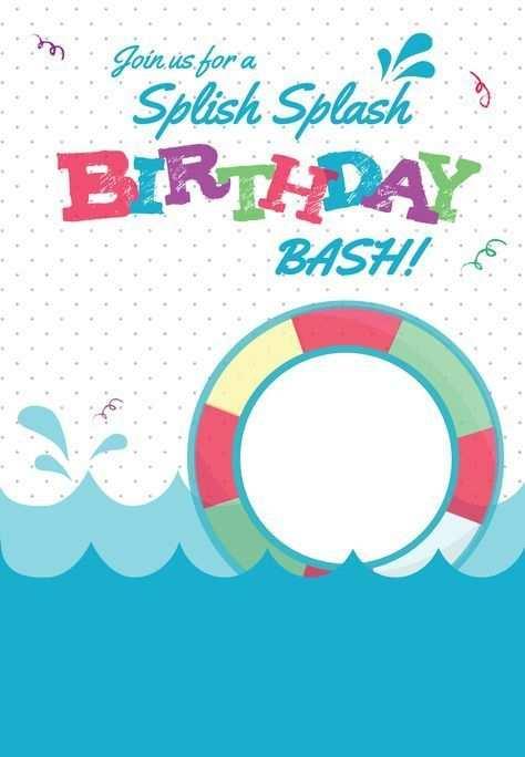 Splish Splash Kostenlose Druckbare Sommerfest Einladungsvorlage