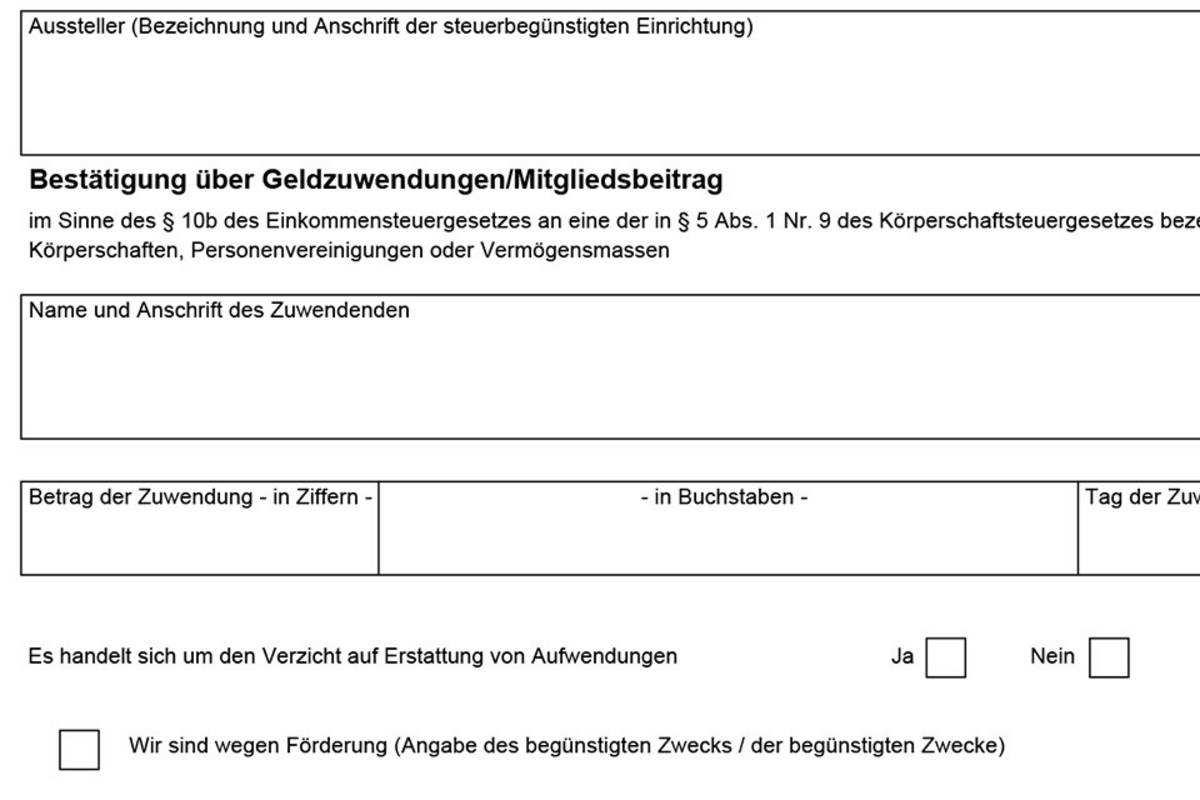 Muster Fur Zuwendungsbestatigungen Landessportbund Sachsen
