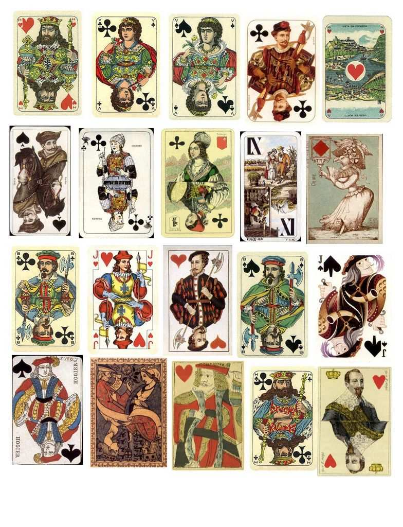 Free Vintage Collage Sheets Spielkarten Tarot Karten