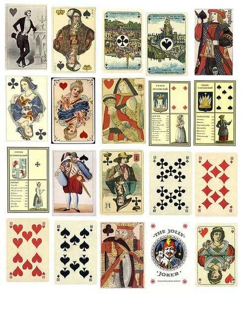 Free Collage Sheets Vintage Karten Spielkarten Kartenideen