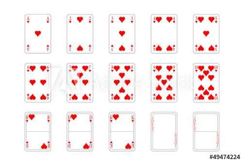 Spielkarten Herz Muster Kaufen Sie Diese Vektorgrafik Und
