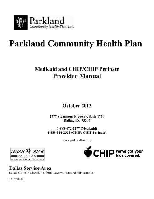 Parkland Healthfirst Parkland Community Health Plan Inc