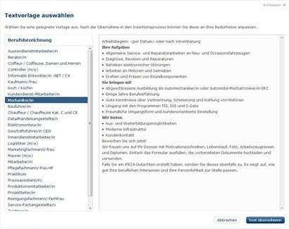 Muster Fur Stellenbeschreibung Jobscout24