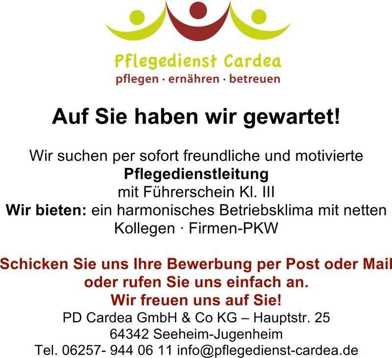 Stellenangebot Pd Leitung Und Exam Pflegepersonal In Seeheim