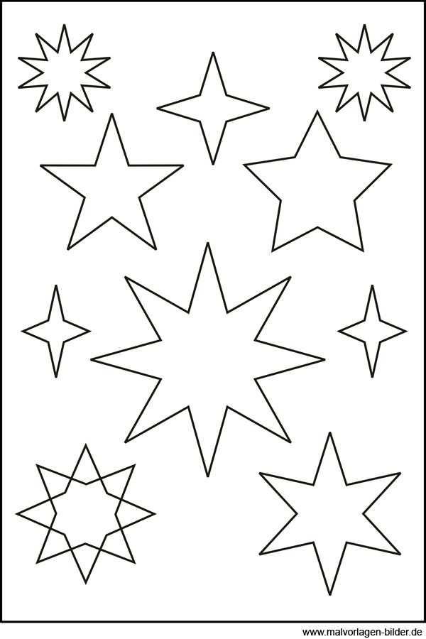 Sternen Vorlage 376 Malvorlage Stern Ausmalbilder Kostenlos