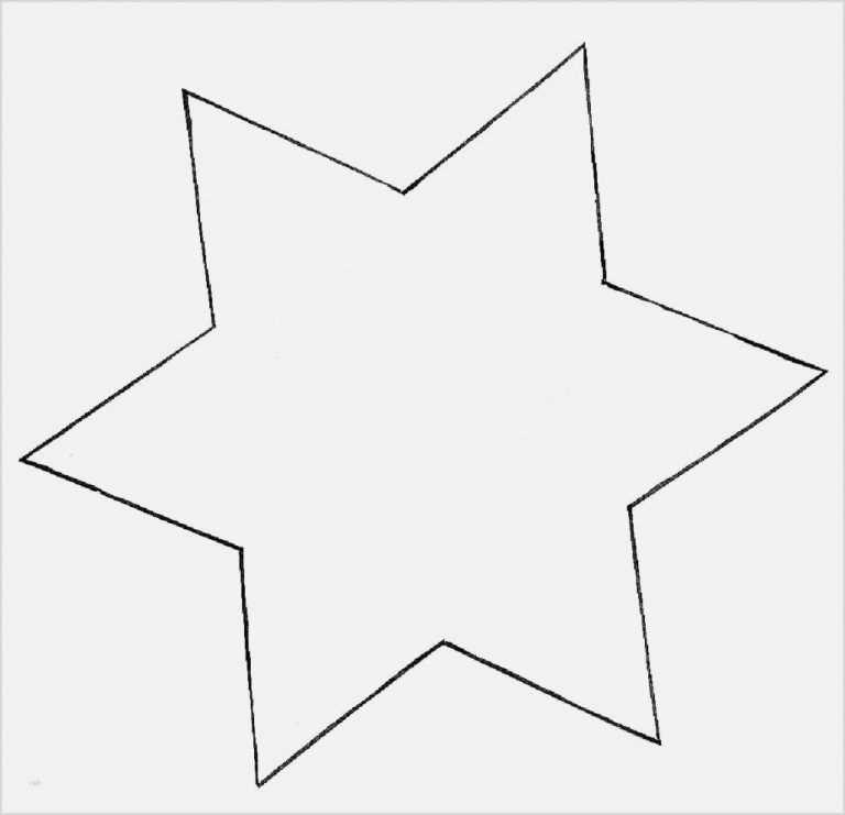 Ehrfurcht Gebietend Stern Schablone Zum Ausdrucken Vorlage Stern