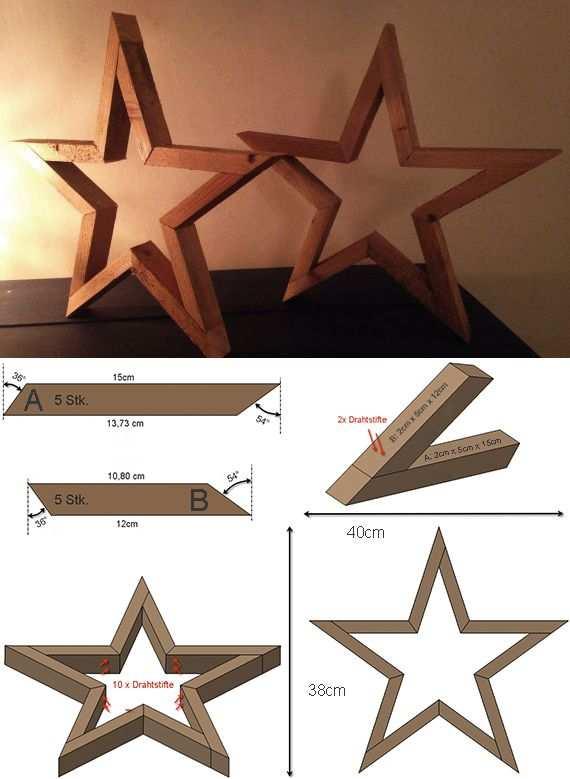 Wie Kann Ich Einen Stern Aus Holz Basteln Holz Basteln